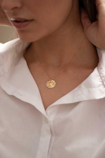 گردنبند طلا دایره پولکی