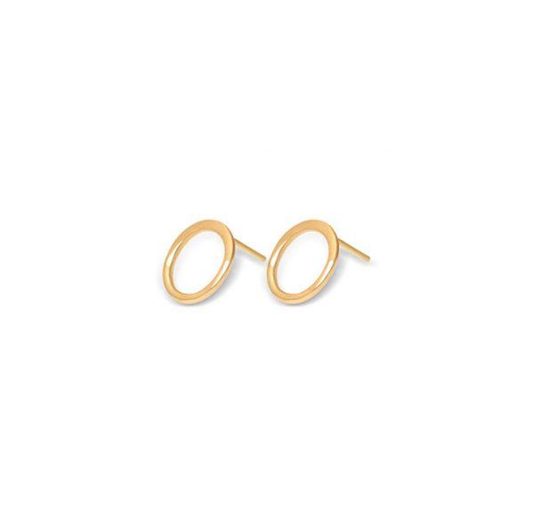 گوشواره طلا دایره ای