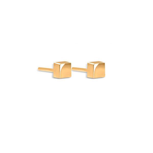 گوشواره طلا مربع