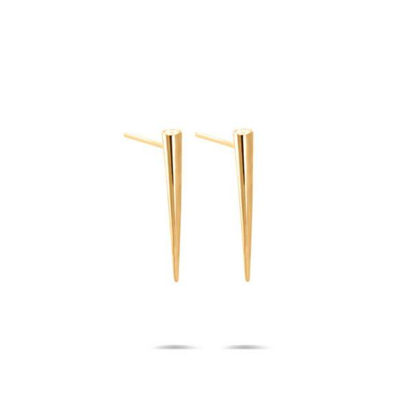گوشواره طلا مخروطی