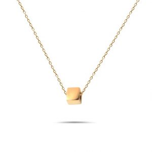 گردنبند طلا طرح مکعب