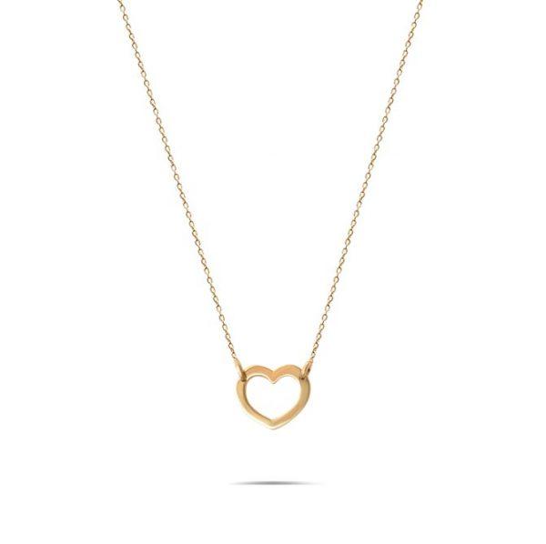 گردنبند طلا طرح قلب تو خالی