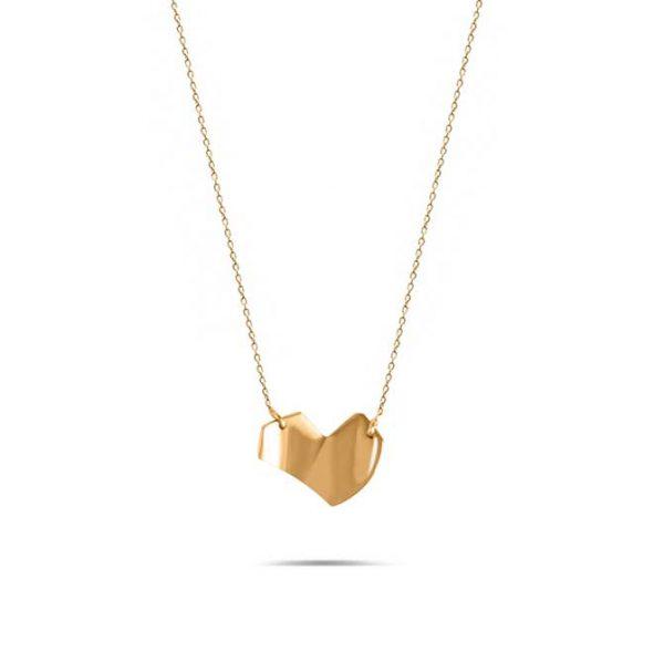 گردنبند طلا طرح قلب شکسته