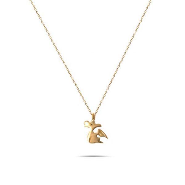 گردنبند طلا طرح اژدها