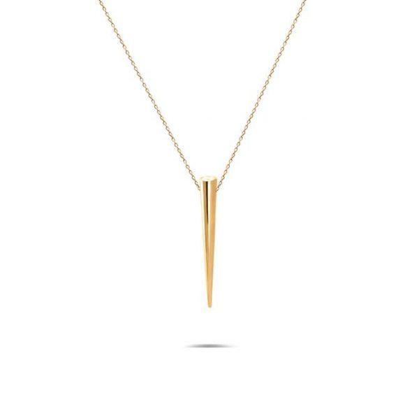گردنبند طلا طرح مخروط