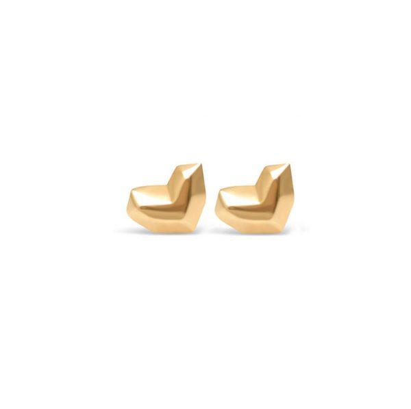 گوشواره طلا قلب سه بعدی