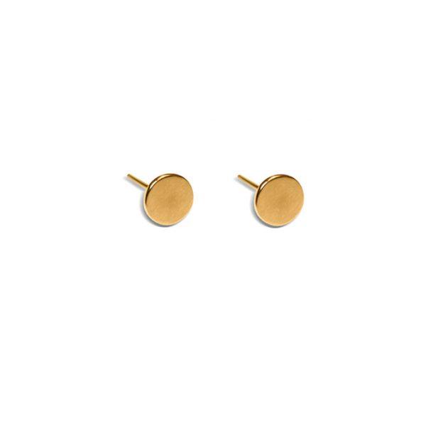 گوشواره طلا دایره توپر