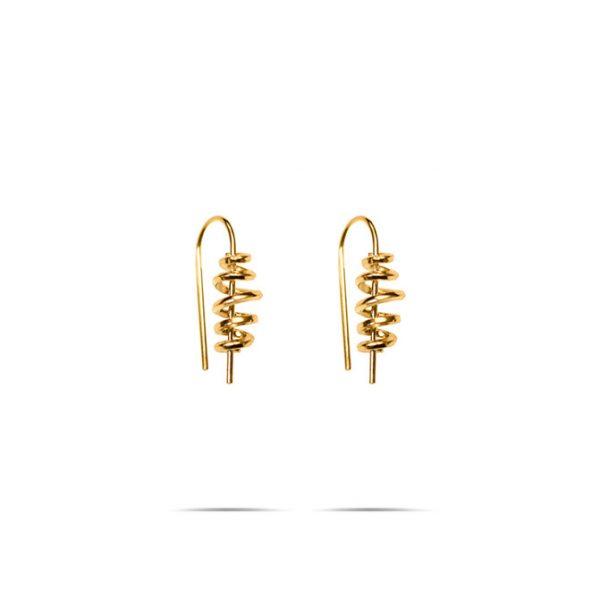 گوشواره طلا ماکارونی