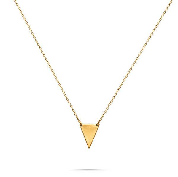 گرنبند طلا مثلث توپر