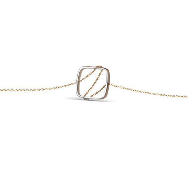 گردنبند مربع زنجیر