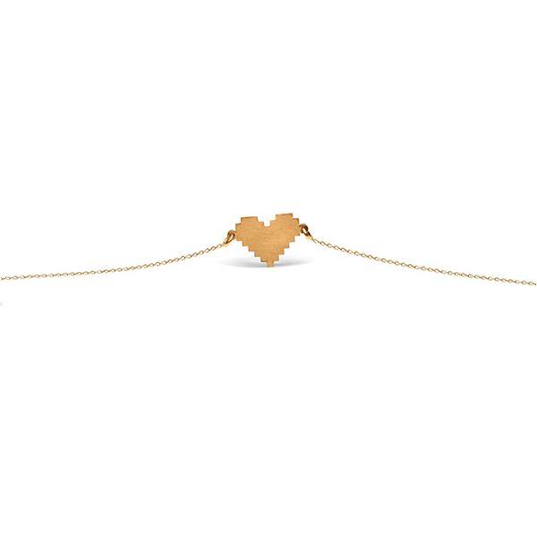 دستبند طلا قلب زیگورات