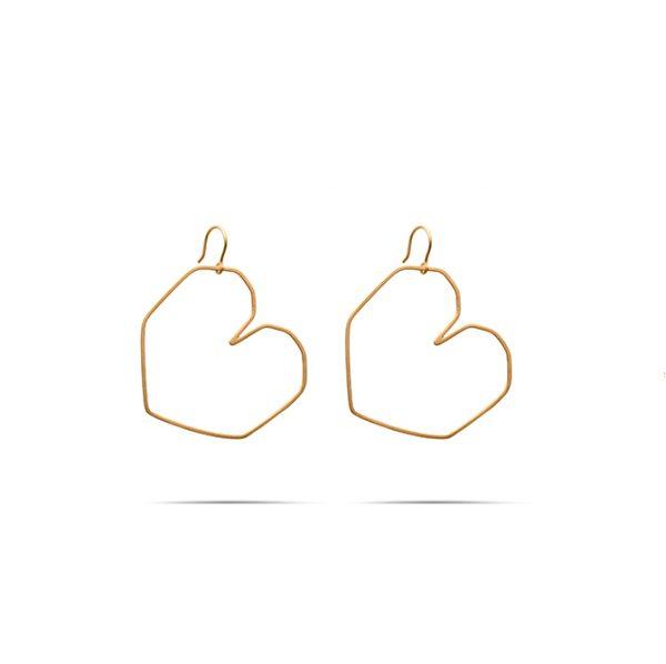 گوشواره طلا قلب بزرگ