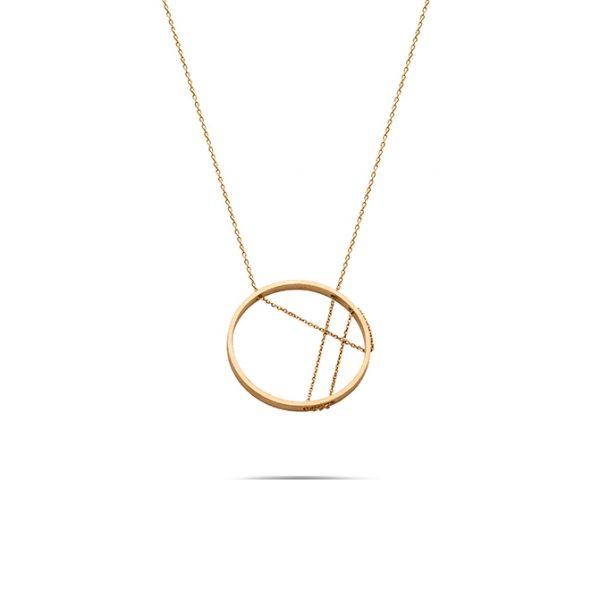 گردنبند طلا دایره زنجیر