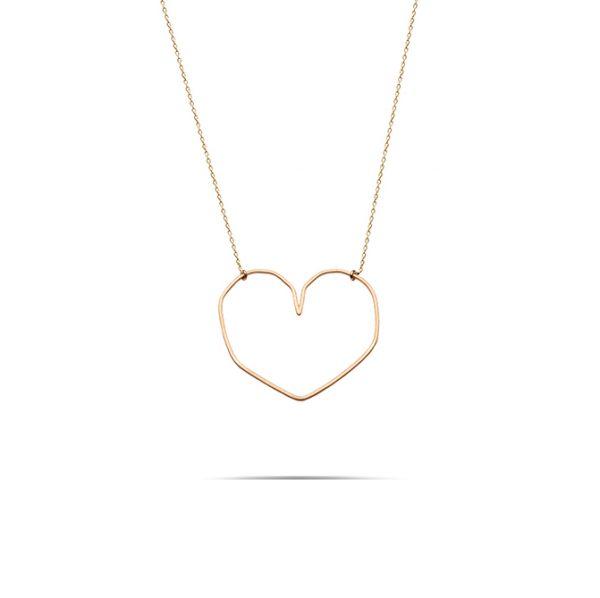 گردنبند طلا قلب بزرگ