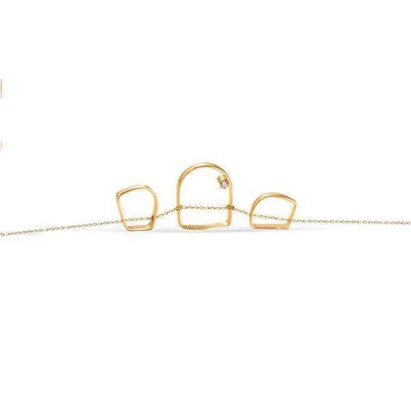 دستبند طلا ۱۳ حلقه