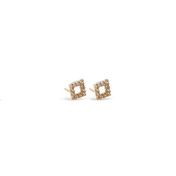 گوشواره طلا مربع توخالی