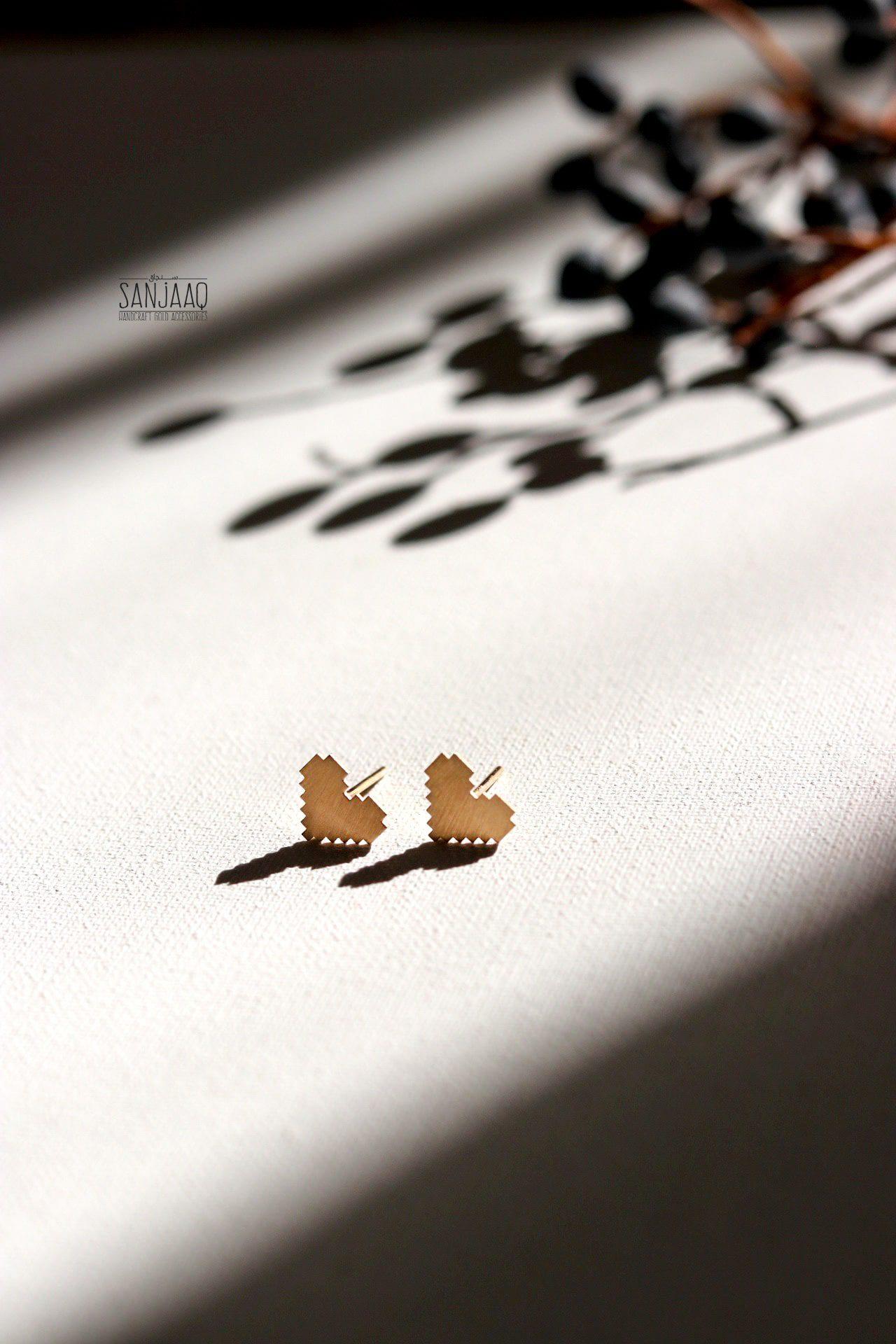گوشواره طلا قلب زیگورات