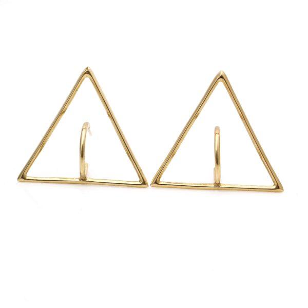 گوشواره طلا مثلث برمودا