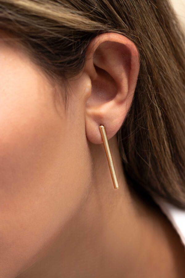 گوشواره طلا اسپرينگ میخی