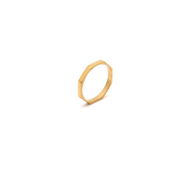 انگشتر طلا هشت ضلعی