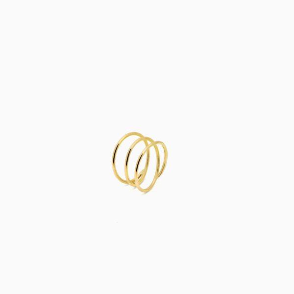 انگشتر طلا سهدور