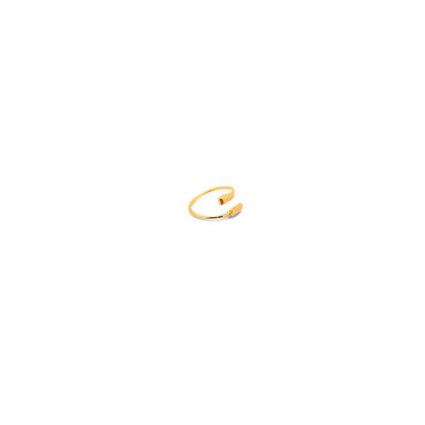 انگشتر طلا سوهان خورده موازی