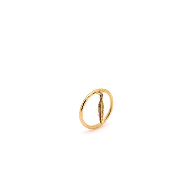 انگشتر طلا پر