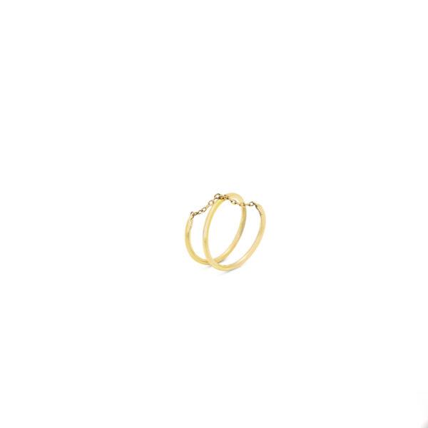 انگشتر طلا مفتول زنجیر ضربدری