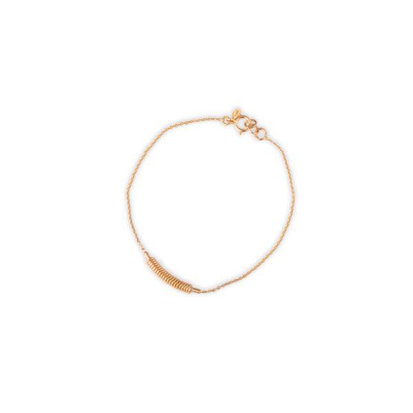 دستبند طلا اسپیرینگ زنجیری