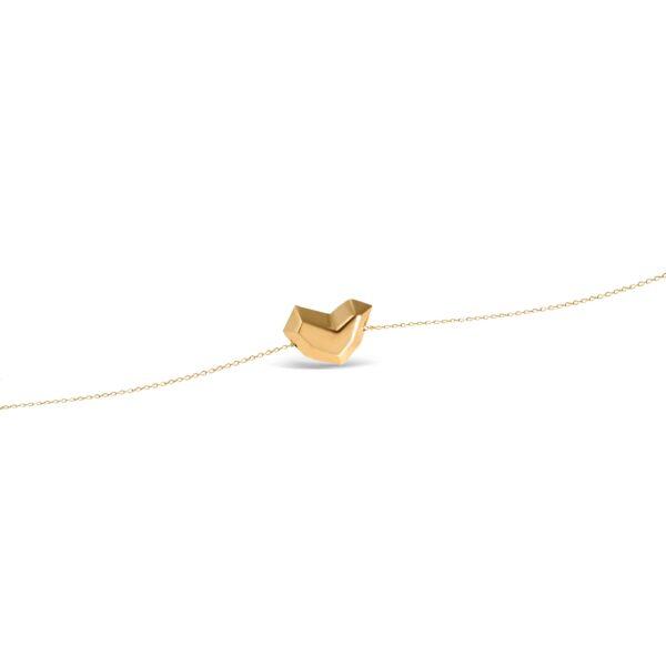 دستبند طلا قلب سه بعدی