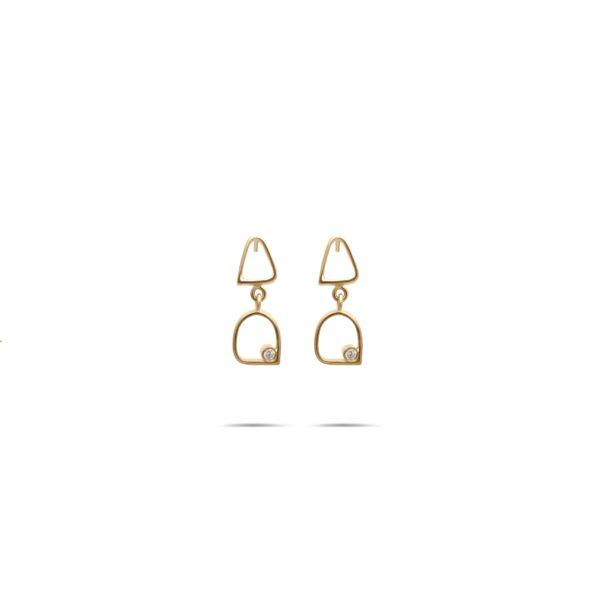 گوشواره طلا ۱۳ حلقه
