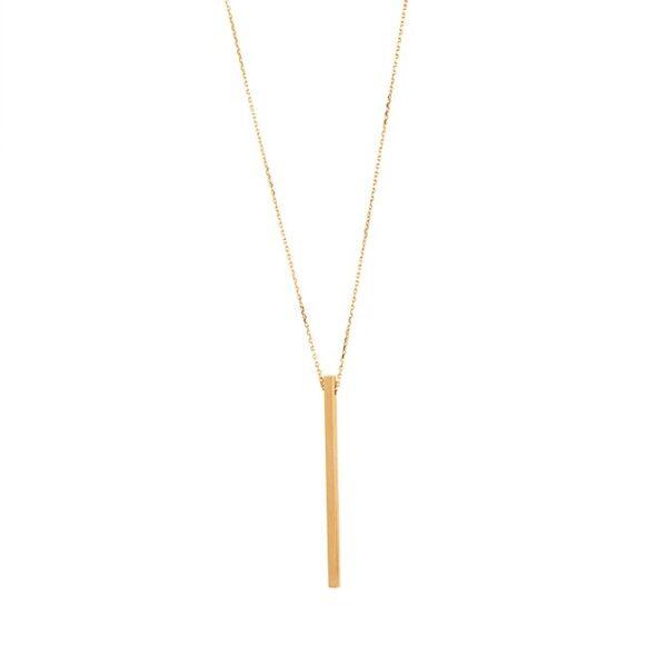 گردنبند طلا میله چهارگوش