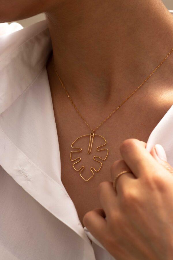 گردنبند طلا برگ انجری