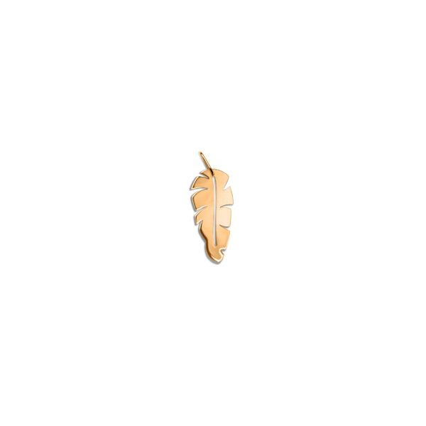 پلاک طلا برگ موز