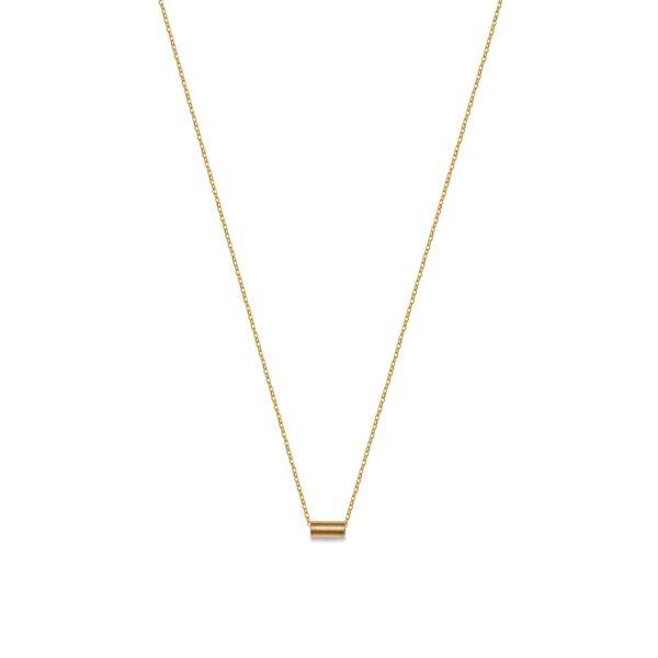 گردنبند طلا استوانه تکی