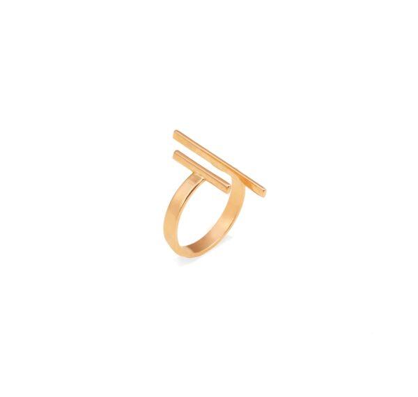 انگشتر طلا ۲خط موازی
