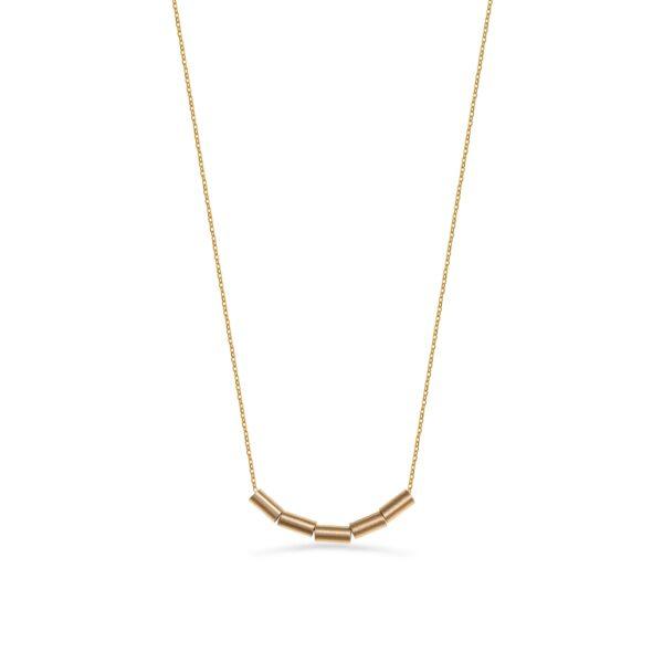 گردنبند طلا استوانه ۵تایی