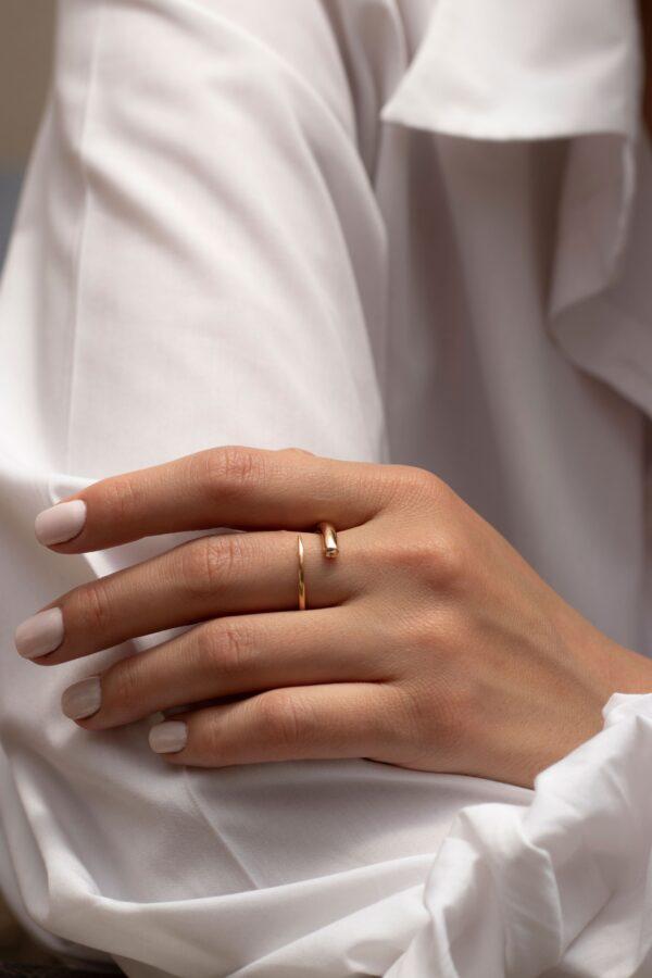 انگشتر طلا مخروط پیچ